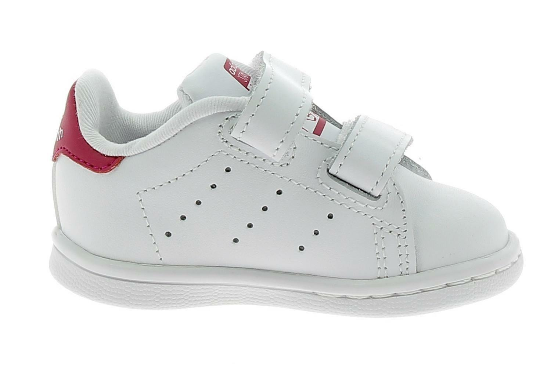 adidas stan smith cf scarpe sportive bambina strappi bianche