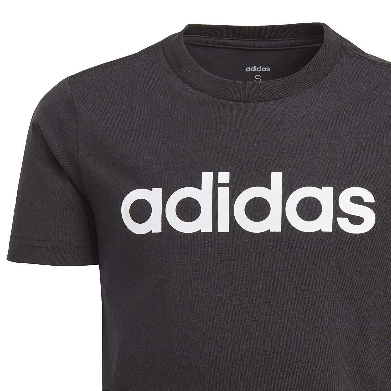 adidas yb e lin tee t-shirt bambino nera dv1811