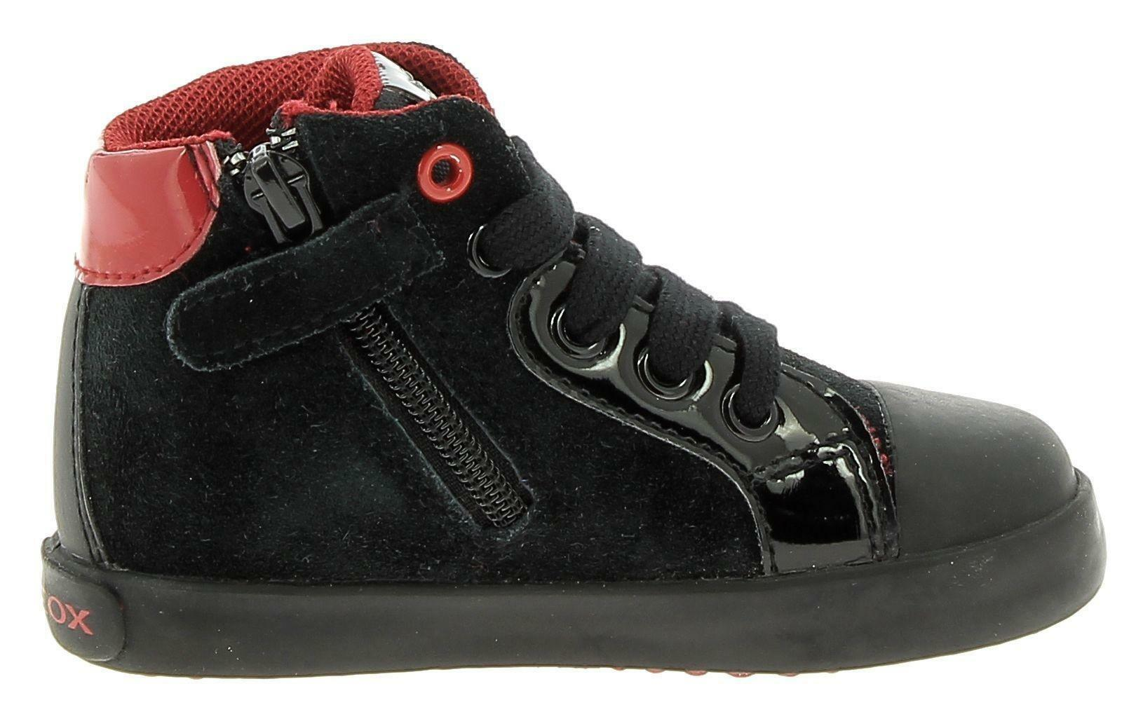 geox geox b kiwi g scarpe sportive bambina nere