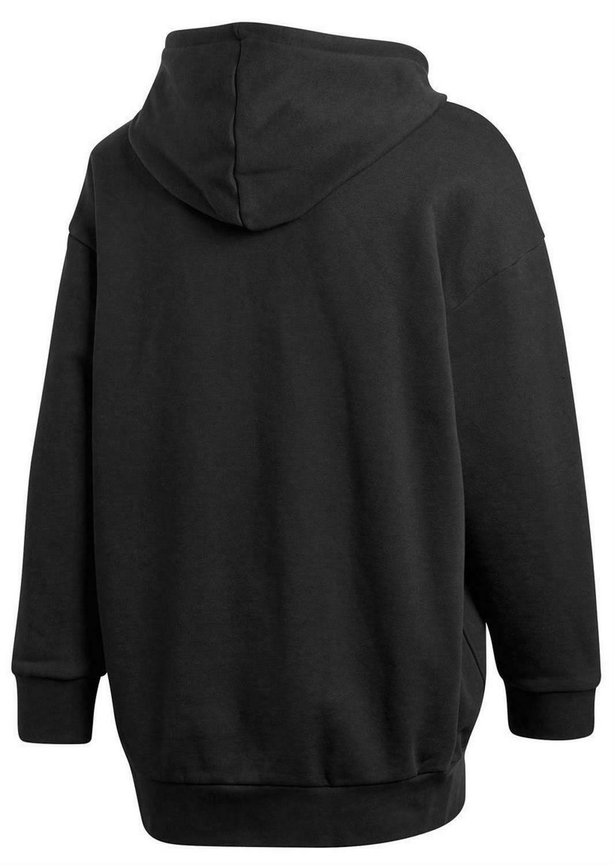 adidas adidas over hood felpa con cappuccio uomo nera cw1246