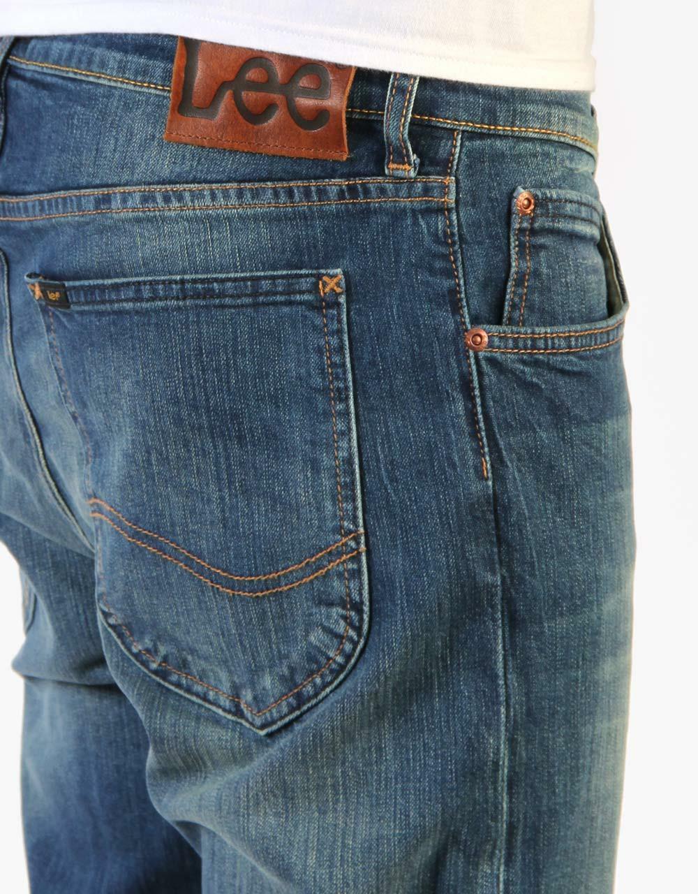 lee lee jeans uomo arvin blue denim stone wash