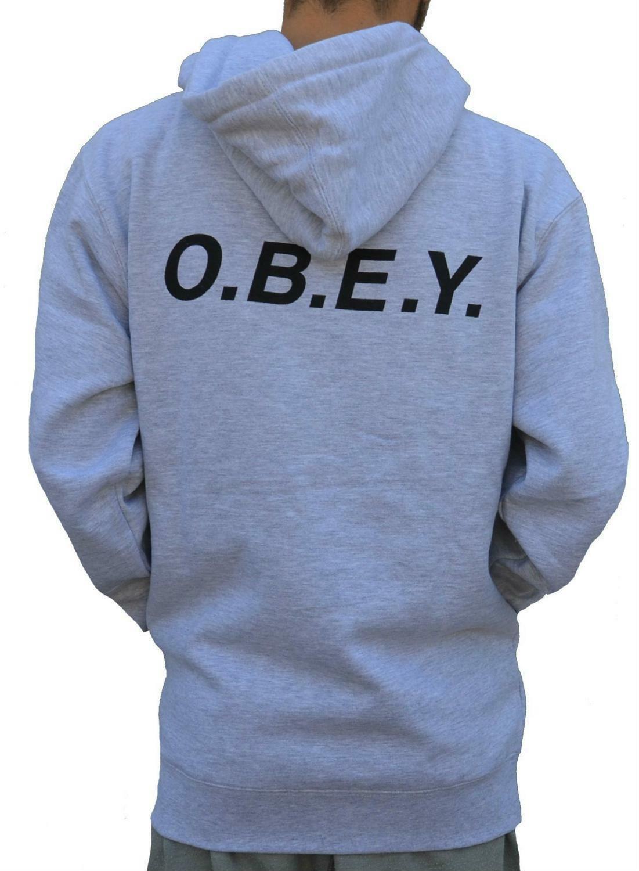 obey obey o.b.e.y. zip giacchetto uomo grigio