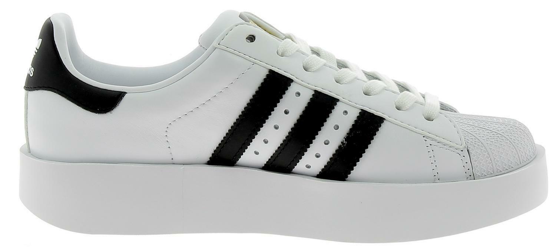adidas superstar bold scarpe sportive pelle donna bianche