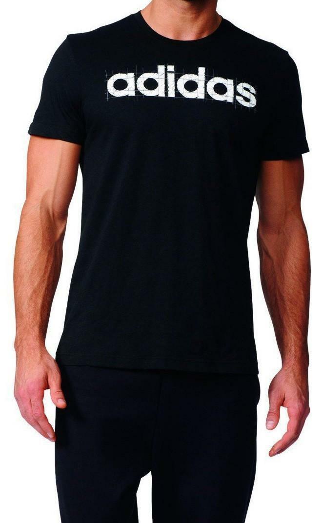 adidas adidas linear t-shirt uomo nera