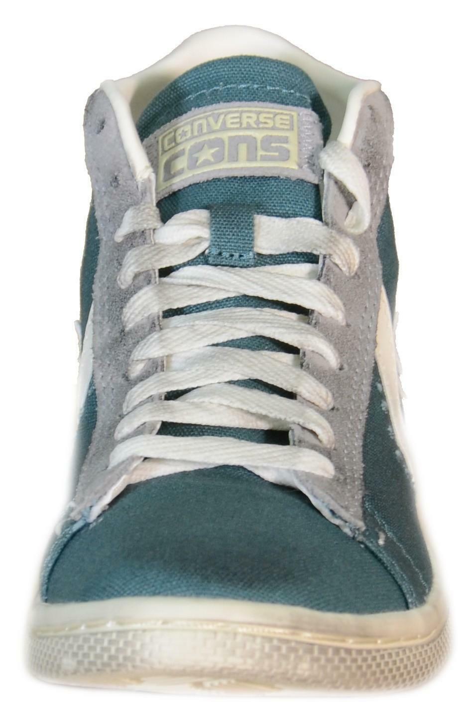 converse converse pro lthr lp mid amarna green scarpe verdi tela 143898