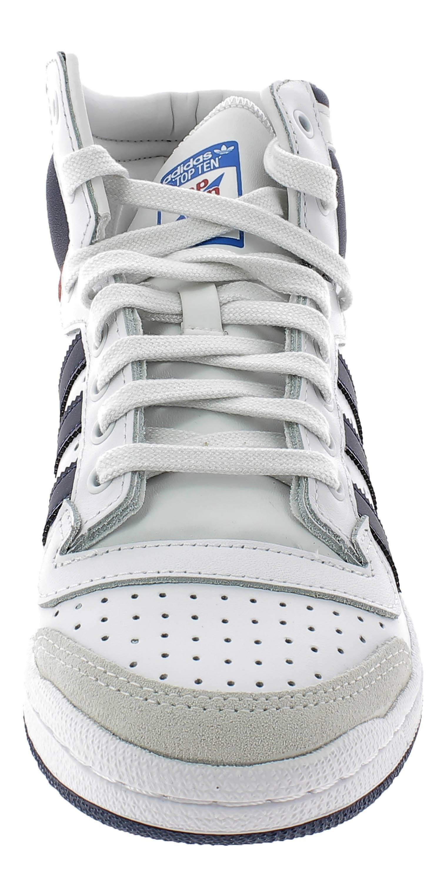 Adidas top ten hi scarpe sportive uomo bianche d65161