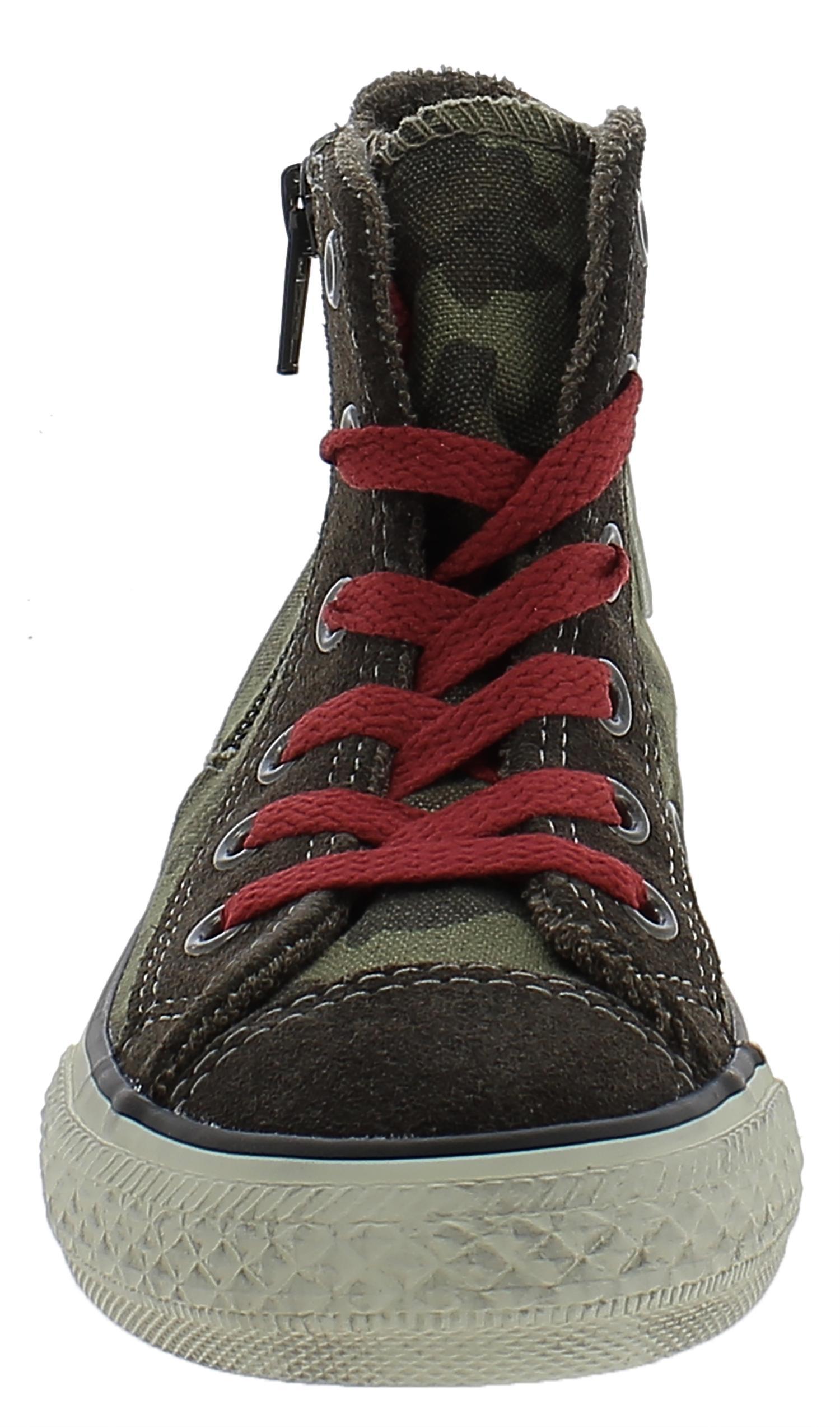 converse converse all star ct side zip  scarpe bambino verdi 641234c