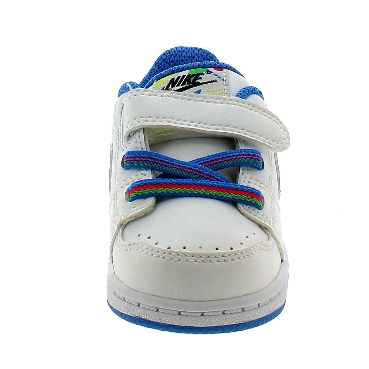 nike nike backboard scarpe sportive strappi bambino bianche