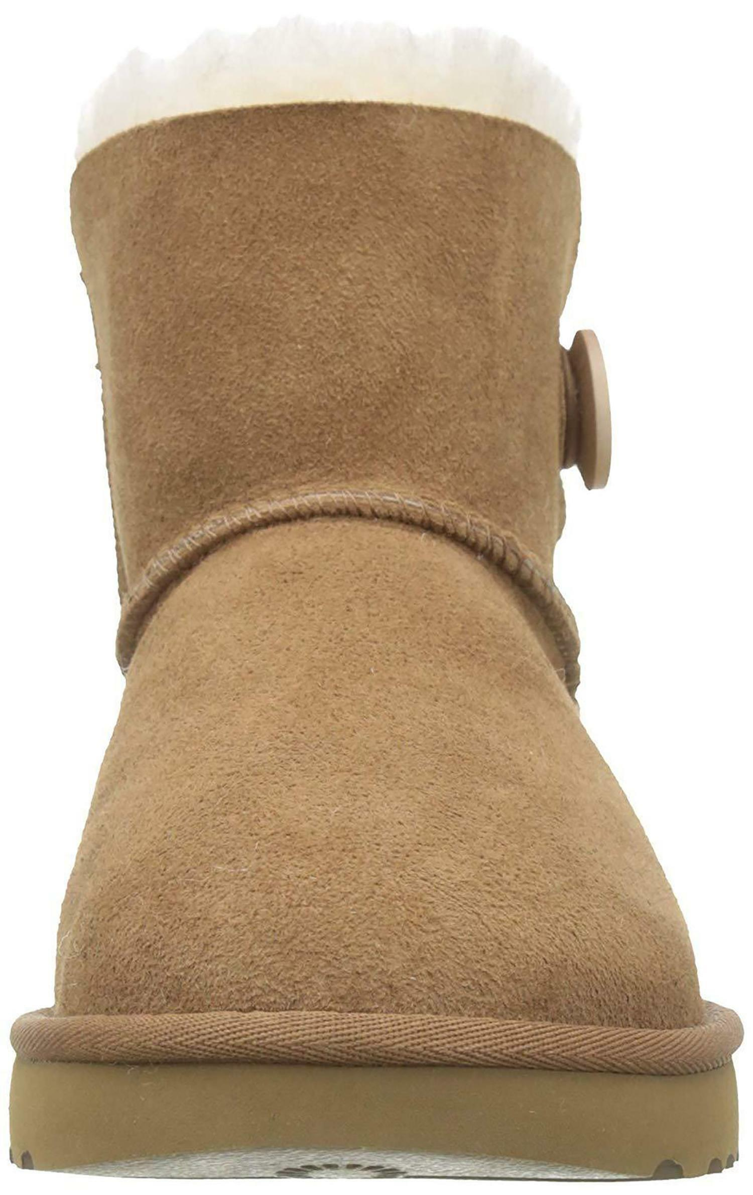 ugg ugg mini bailey button ii stivali donna marroni