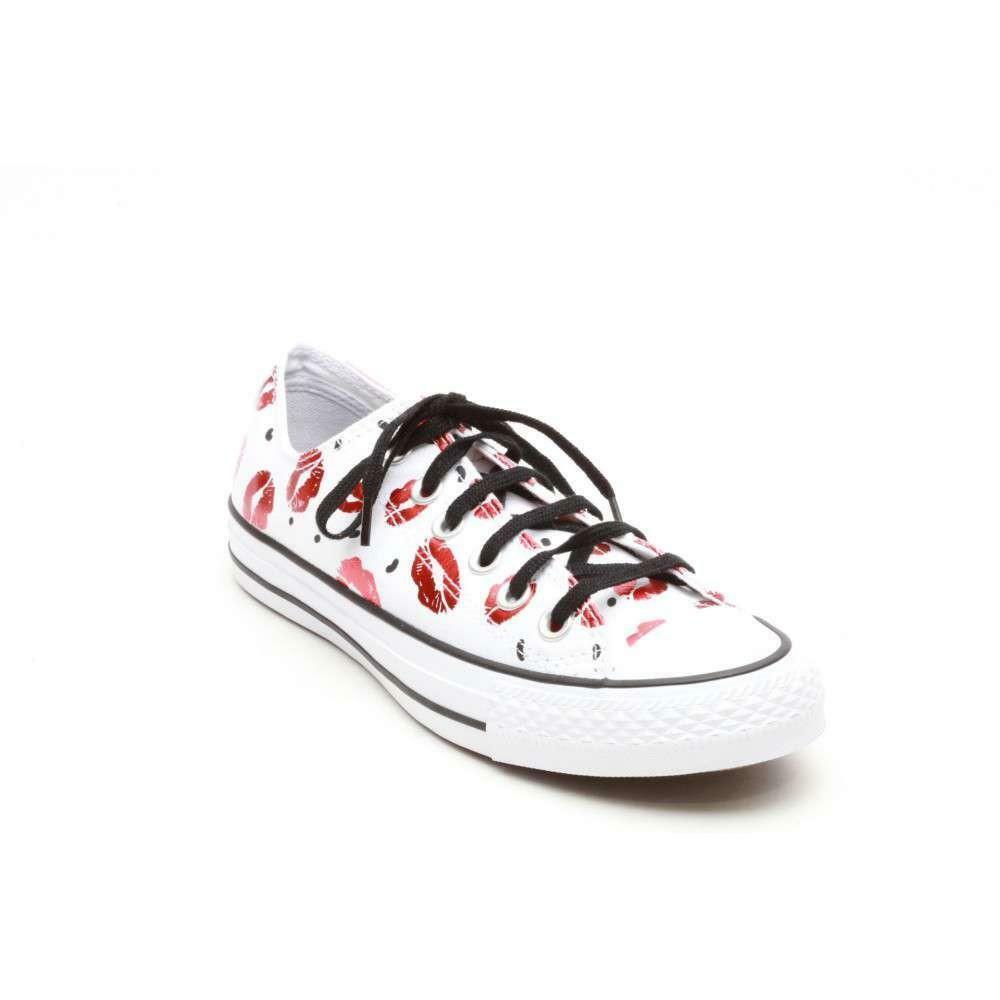 converse converse all star chuck taylor scarpe bianche baci 552745c