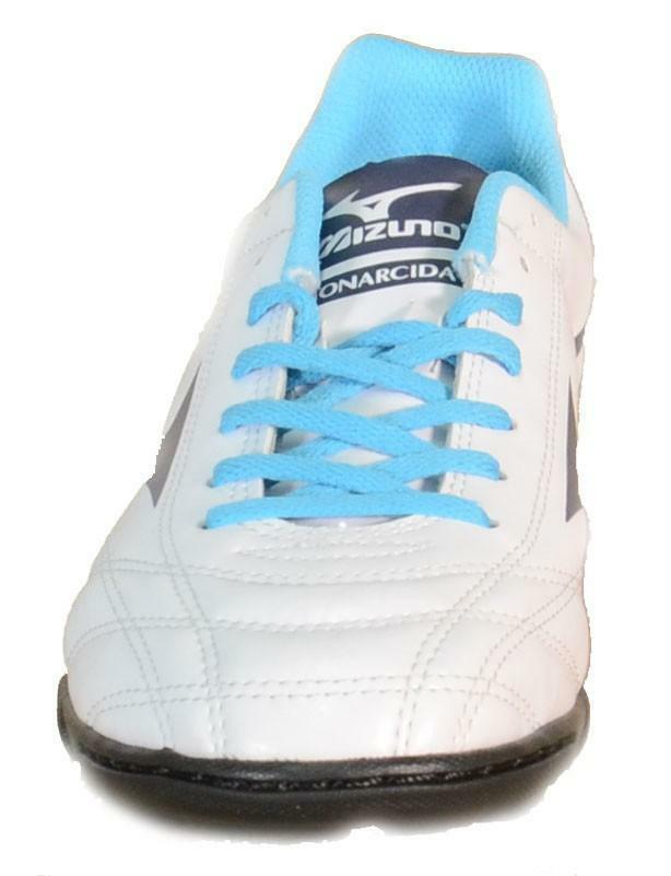 mizuno mizuno monarcida jr as scarpini calcetto bambino bianchi pelle 152401
