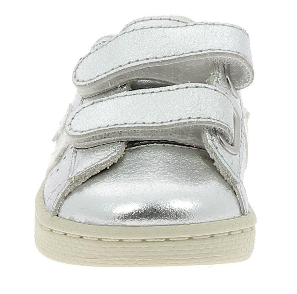 converse converse pro leather 76 2v ox scarpe sportive bambina argento strappi