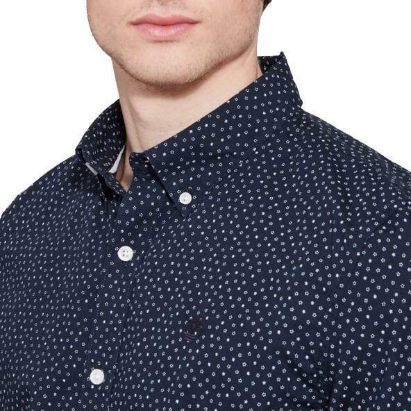 timberland timberland suncook river printed shirt camicia blu uomo