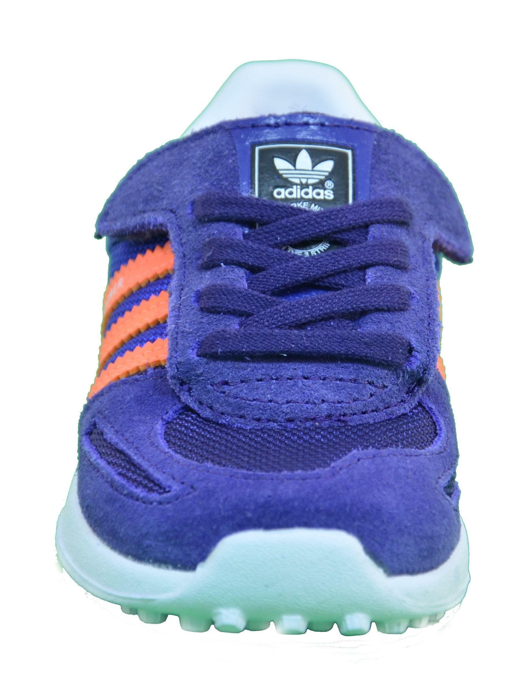 adidas adidas la trainer viola scarpe bambina pelle lacci strappi m17130