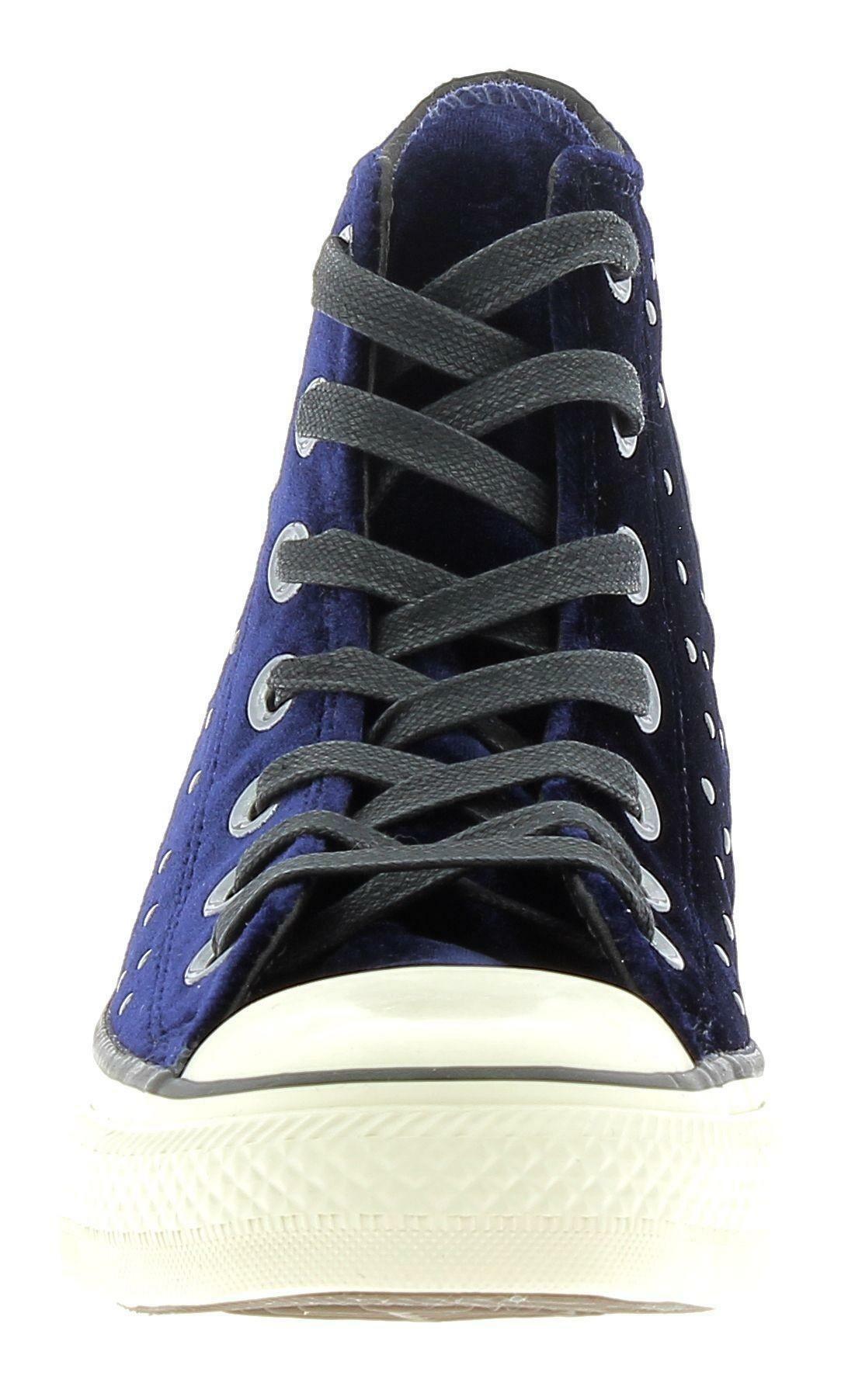 converse converse ctas hi scarpe donna velluto blu borchiate
