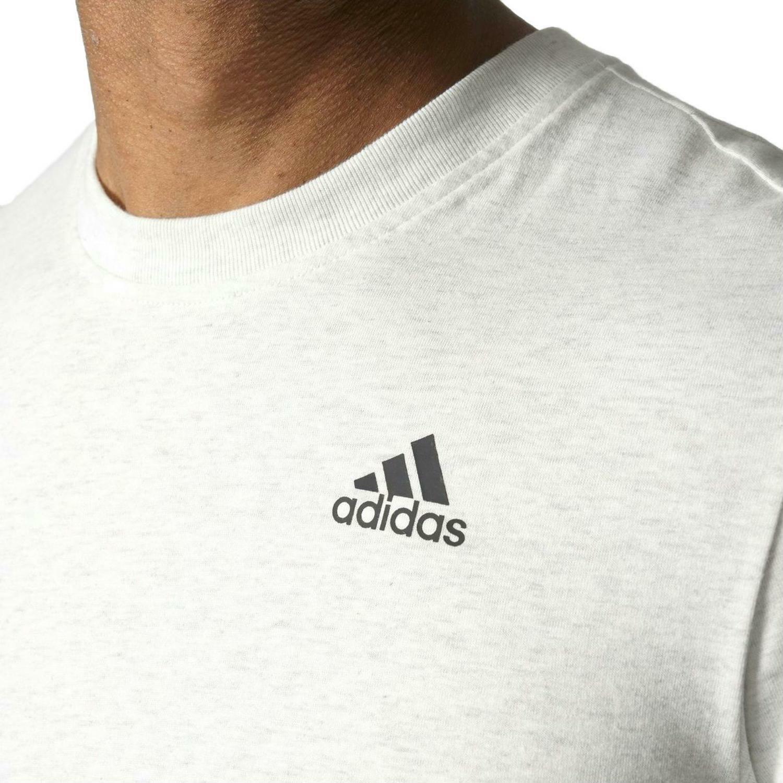 adidas adidas ess base t-shirt uomo bianca
