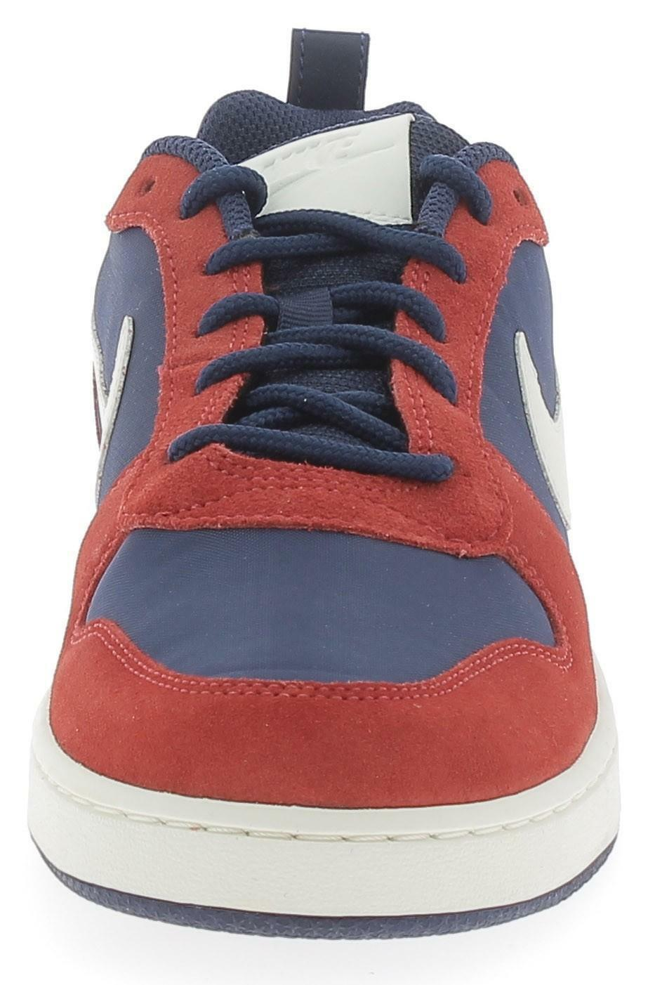 nike nike court borough low prem scarpe sportive uomo rosse blu