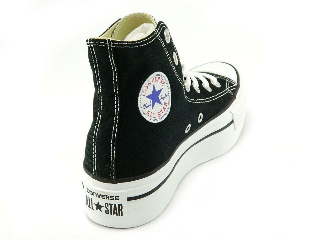 converse converse all star ct platform hi scarpe donna nere tela 540169c