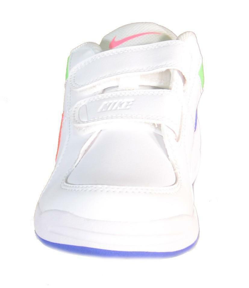 nike pico 4 (psv) scarpe bambina bianche pelle strappi 454477