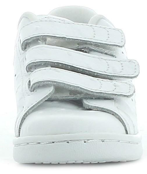 adidas originals adidas stan smith cf c scarpe sportive bambino/a bianche pelle strappo s78755
