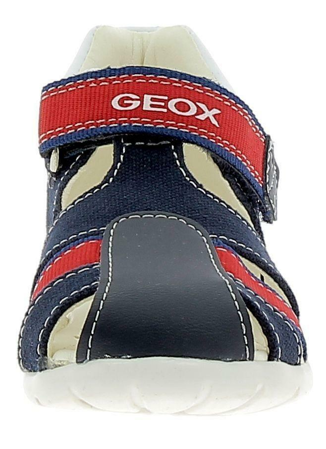 geox geox b elthan sandaletti bambino blu rosso