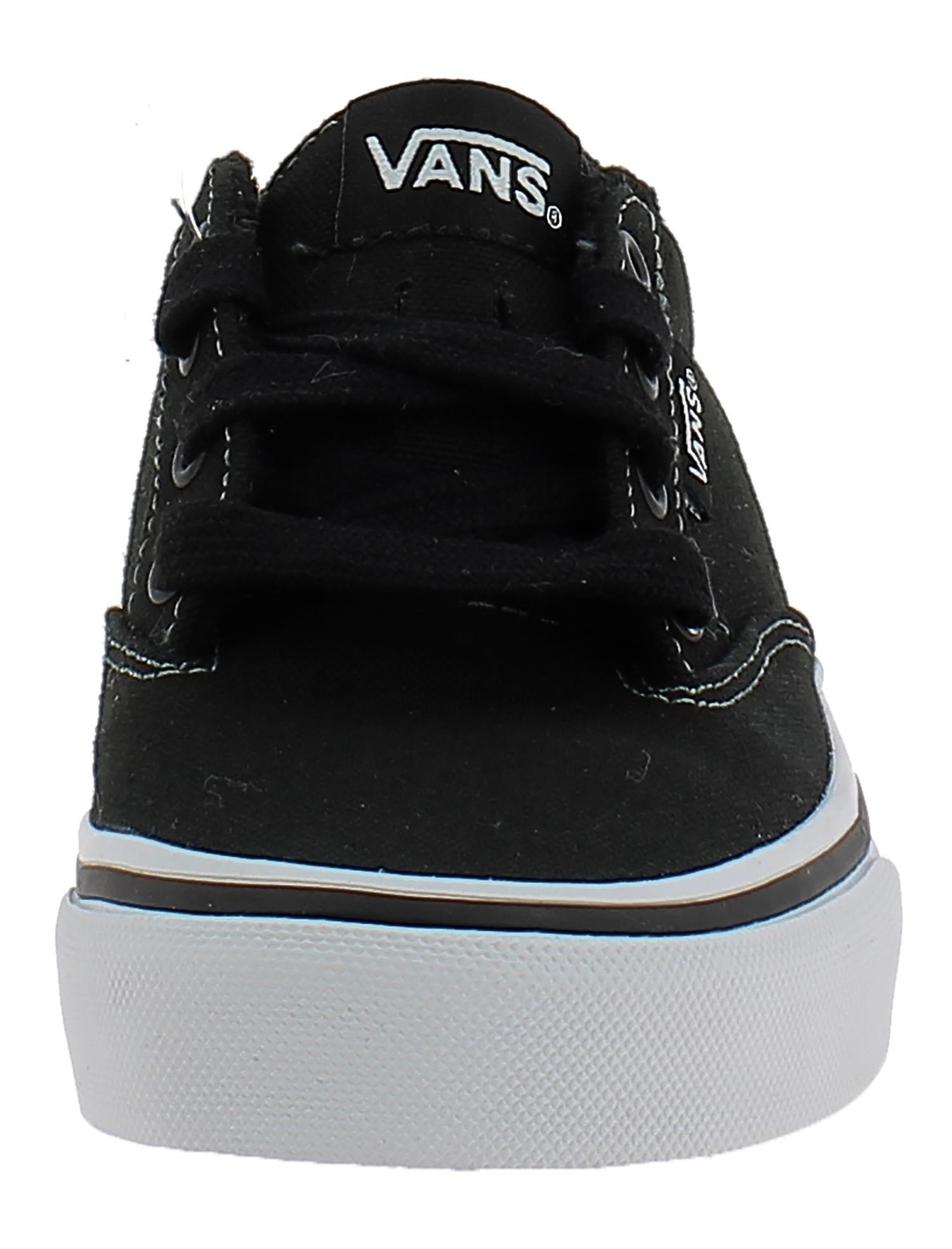 vans vans winston scarpe bambino nere tela vo4187