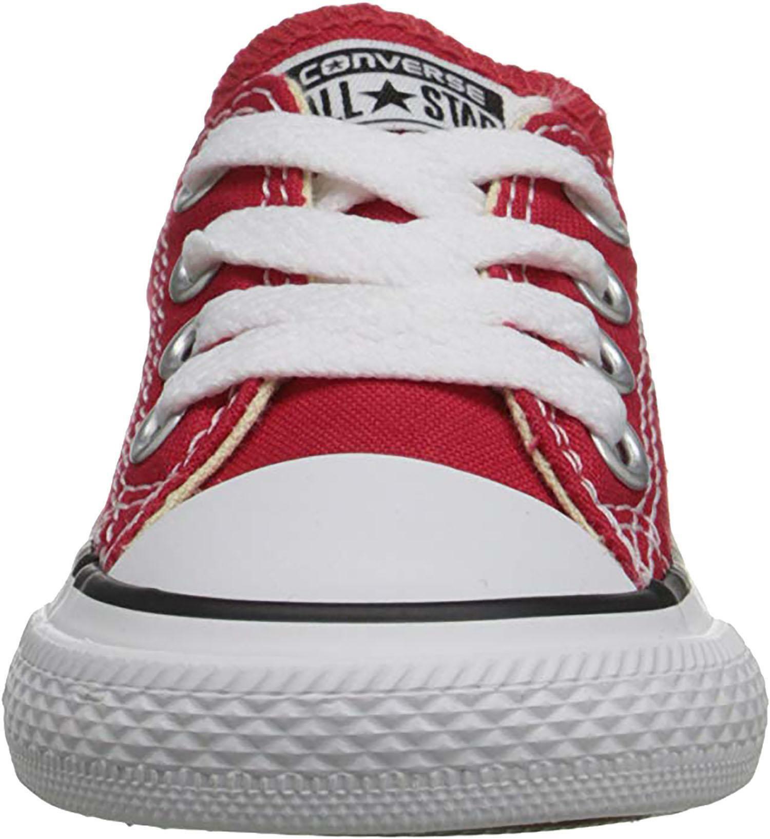 converse converse all star scarpe sportive bambino rosse tela lacci 7j236c