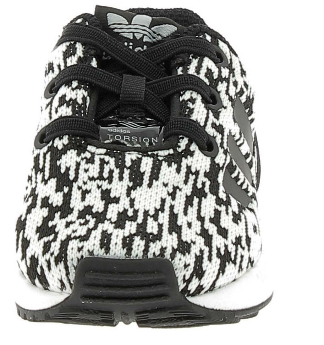 adidas adidas zx flux el i scarpe sportive bianche nere tessuto