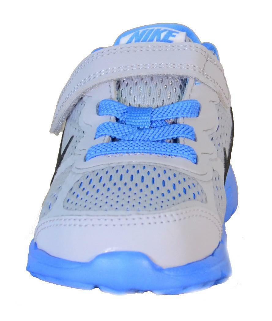 nike kids fusion run 3 (tdv) scarpe bambino grigie lacci strappi 654154
