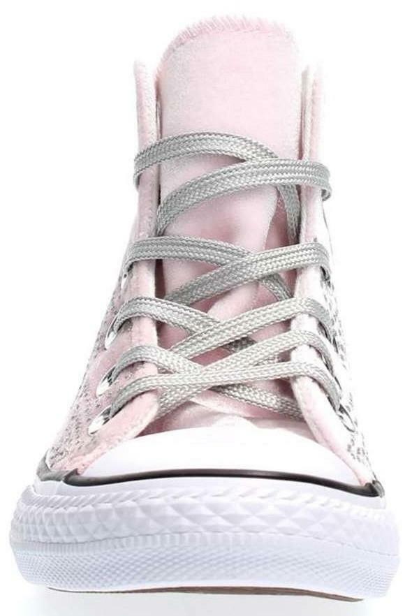 converse converse ctas hl scarpe sportive velluto rosa