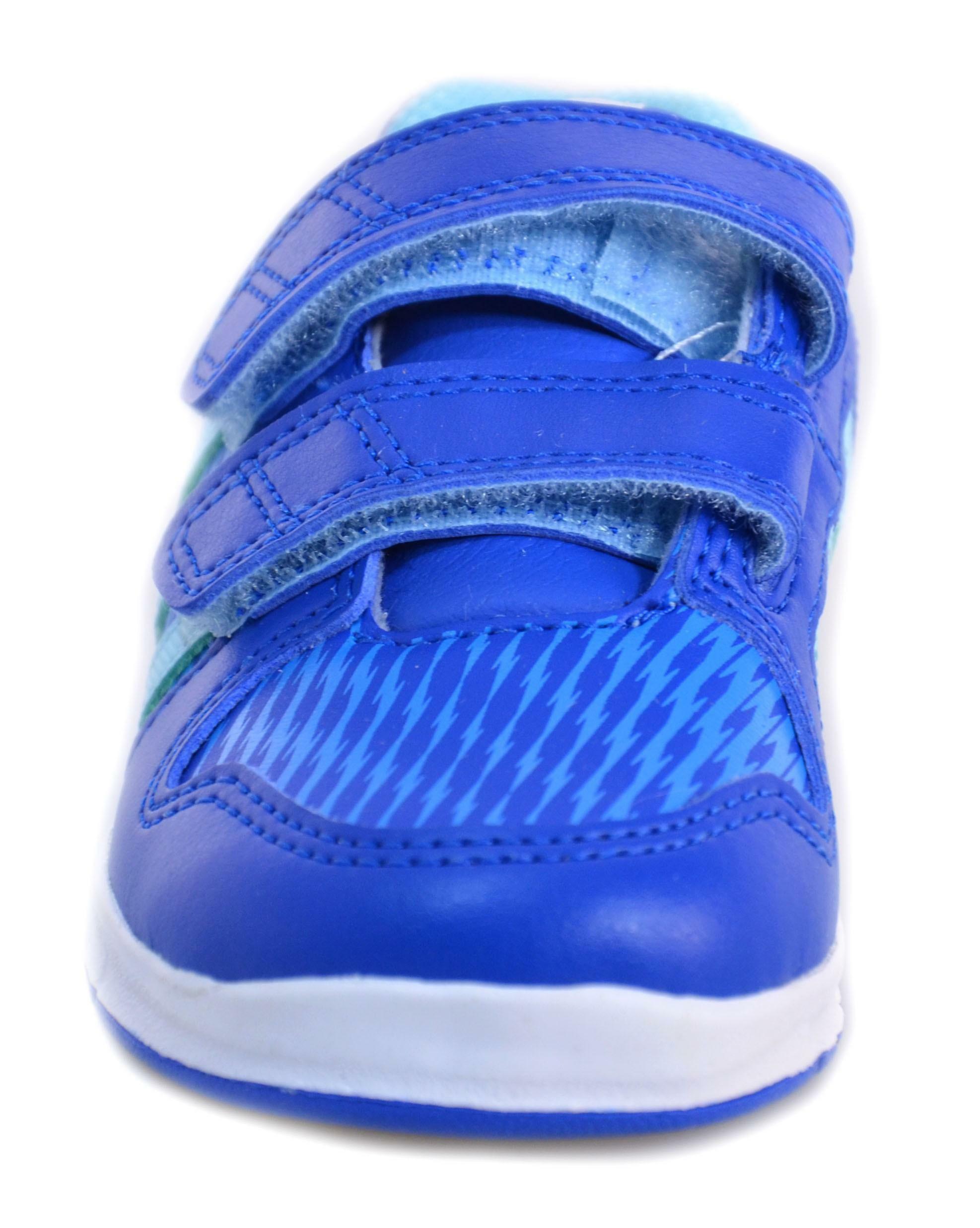adidas adidas lk trainer 6 cf i scarpe bambino azzurre pelle strappi m20053