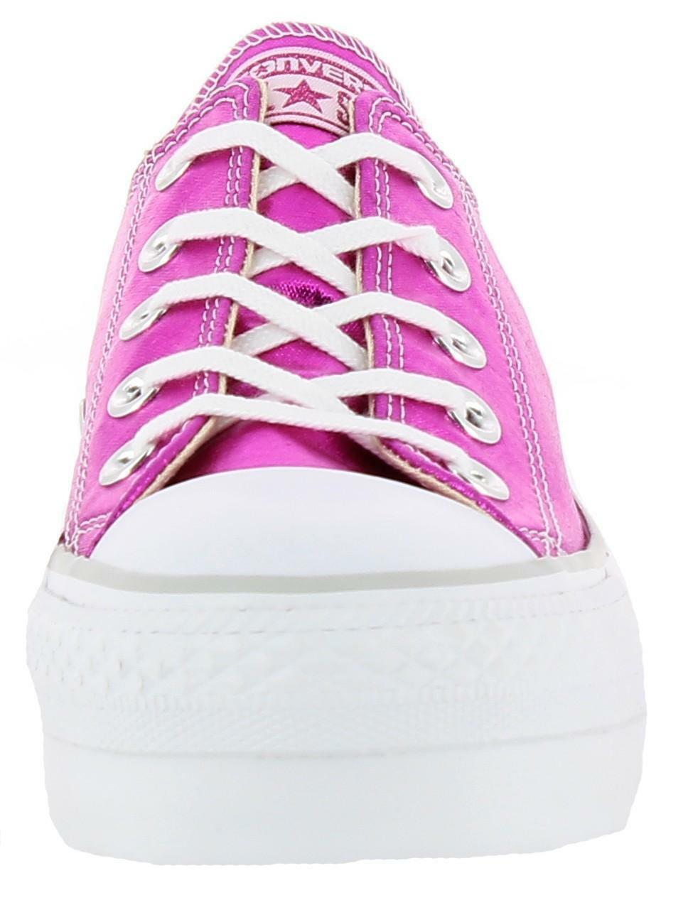 converse converse platform scarpe donna basse fuxia