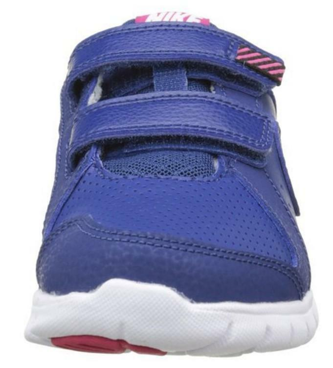 nike nike flex experience ltr psv scarpe sportive bambina blu pelle strappi 631466