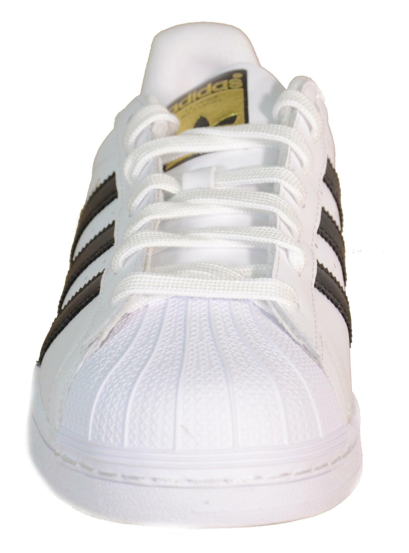 adidas adidas superstar j scarpe bianche pelle c77154