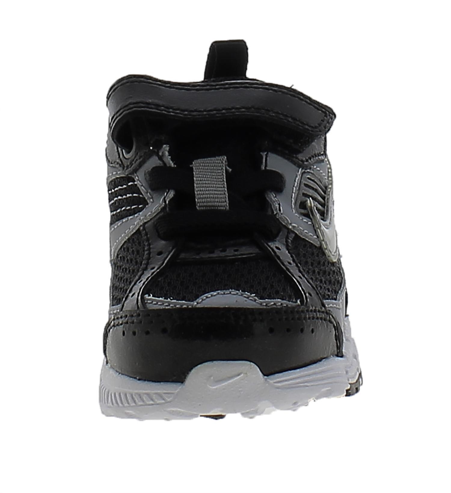 nike nike dart 8 (td) scarpe bambino nere pelle tela 395827