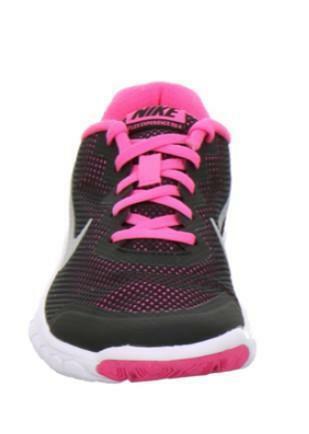 newest bb97f f1a6c Nike Flex Experience 4 Gs Scarpe Sportive Donna Nere Pelle Tela ...
