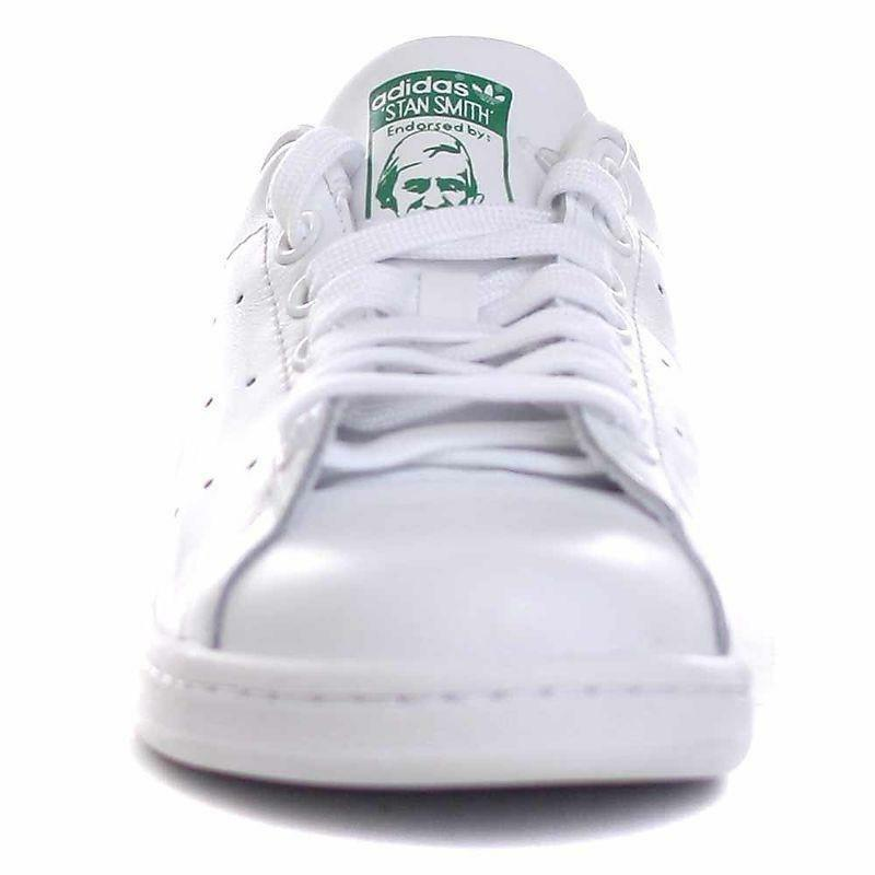 adidas adidas stan smith j scarpe sportive bianche verdi pelle