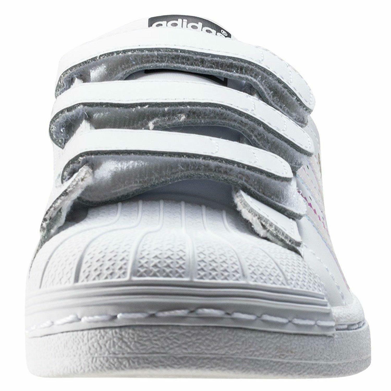 adidas adidas superstar cf c scarpe sportive bambina strappi bianche aq6279