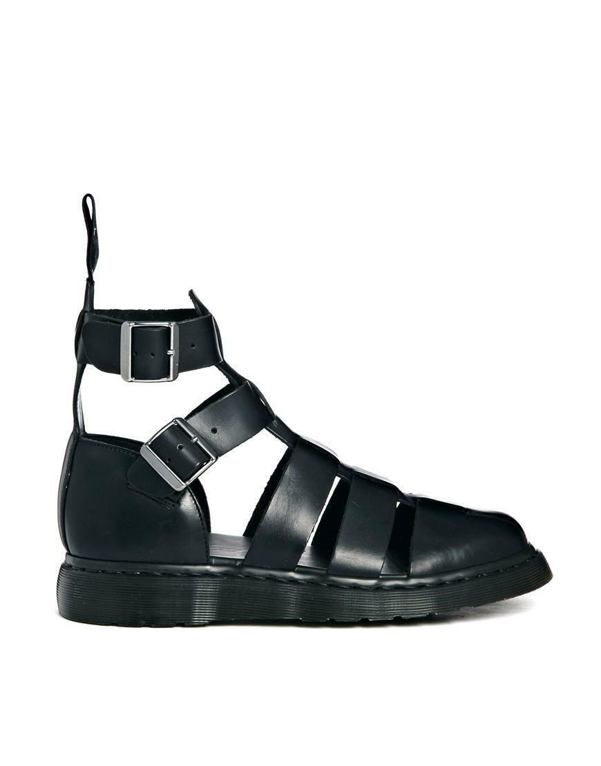 dr. martens sandalo pelle nero uomo donna geraldo 15696001
