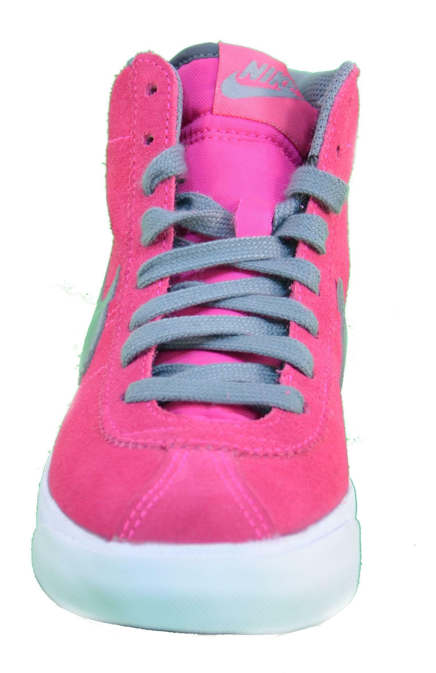 nike bruin mid (gs) scarpe donna rosa pelle 577864