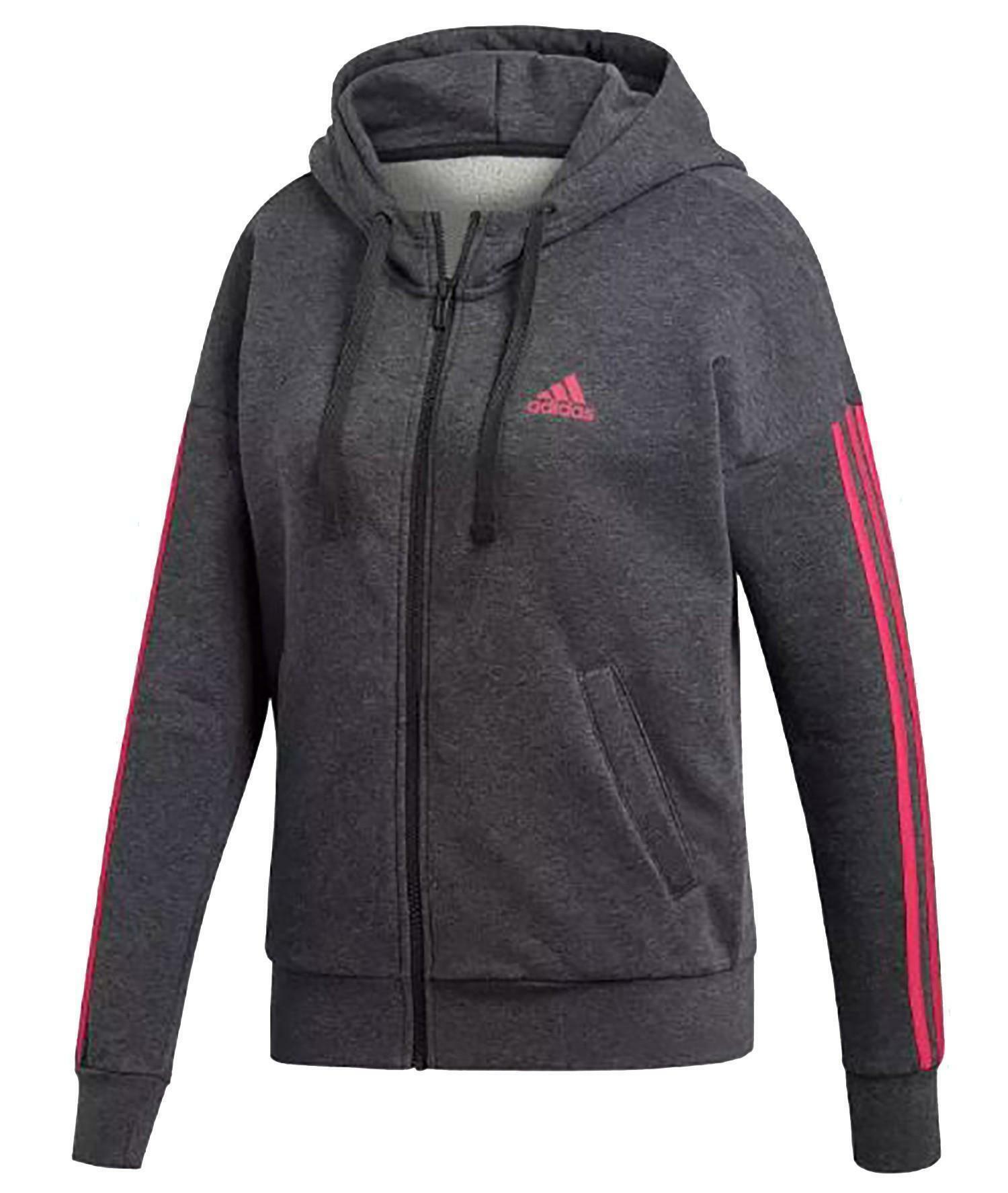 adidas adidas ess lin fz hd giacchetto donna grigio di0127