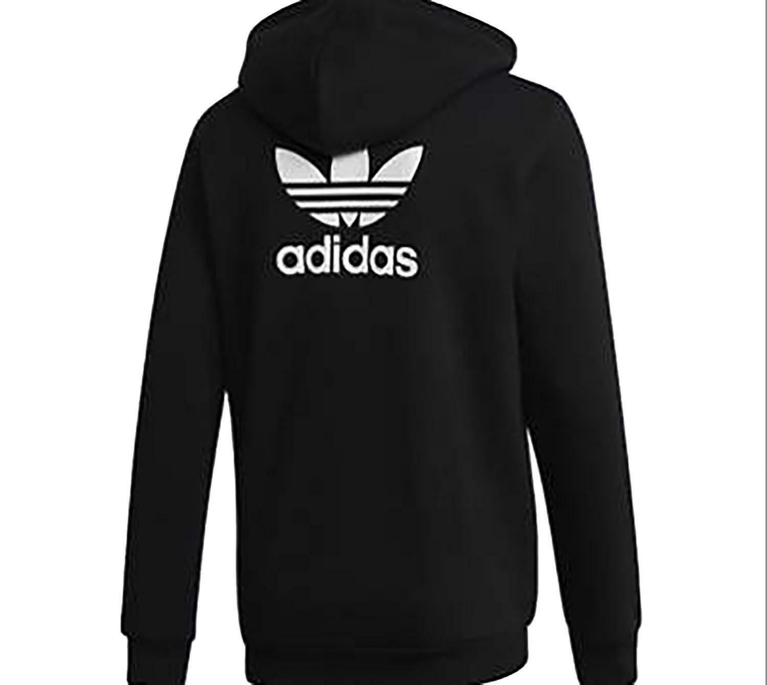 adidas adidas trf flc hoodie giacchetto uomo nero felpato dn6016