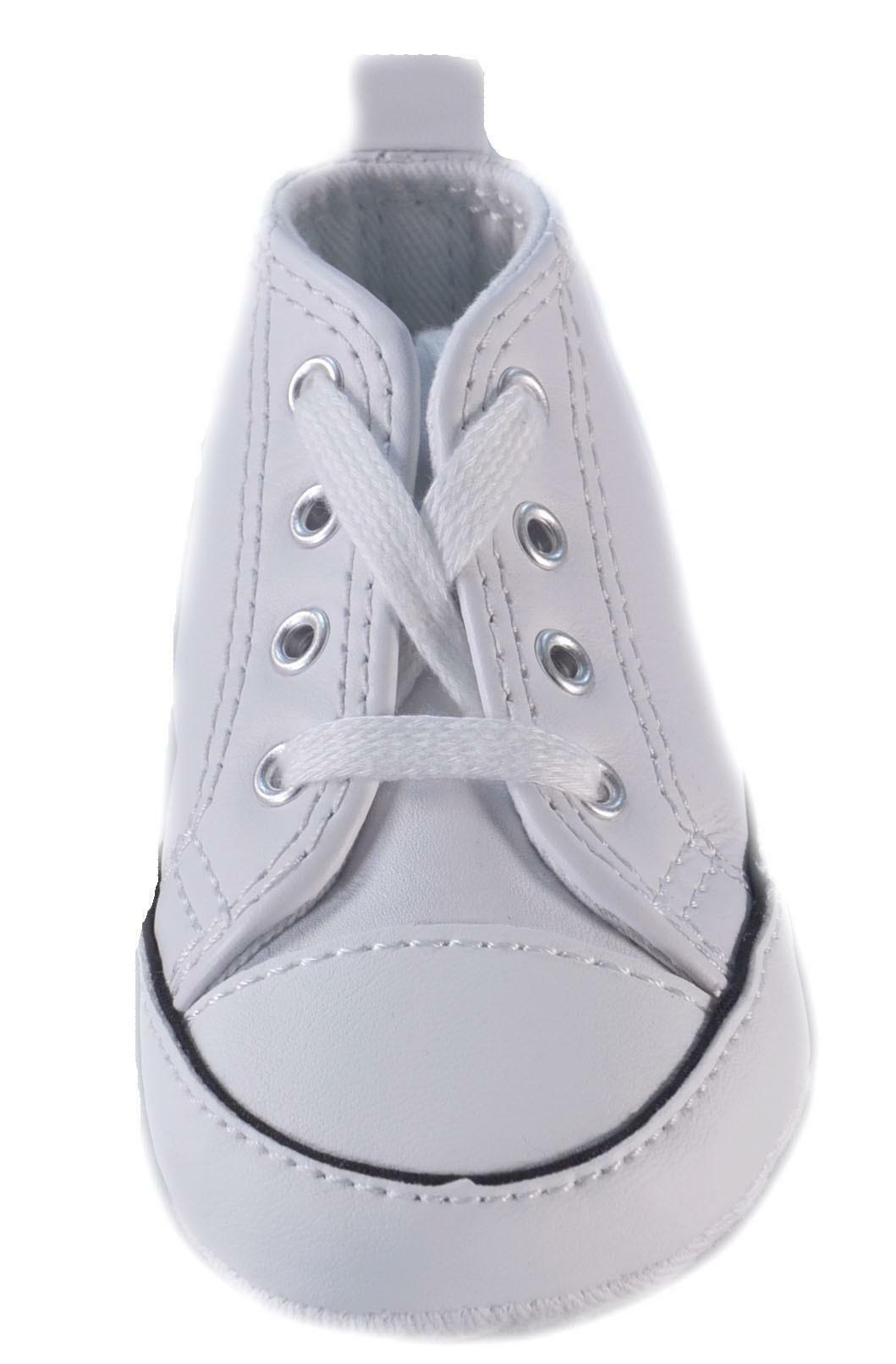 converse all star first star white bianche pelle 81229