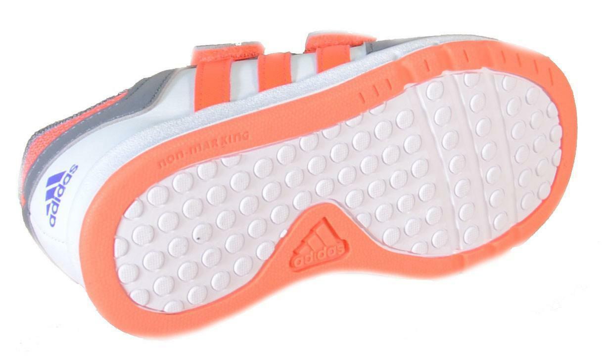 adidas adidas lk trainer 6 cf i scarpe sportive bambino grigie pelle strappi b40555