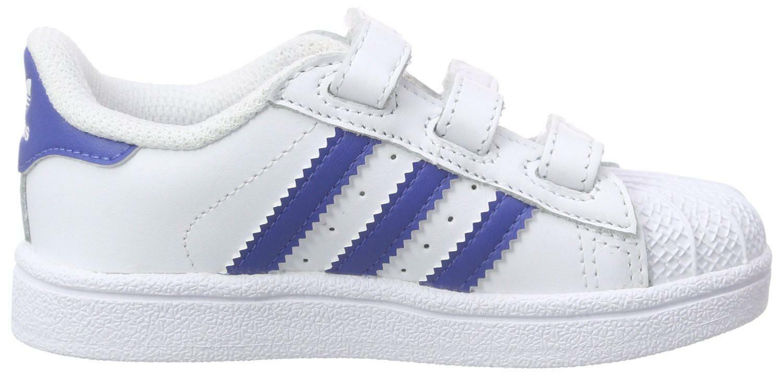 adidas superstar foundation cf i scarpe bambino bianche pelle strappi s74946