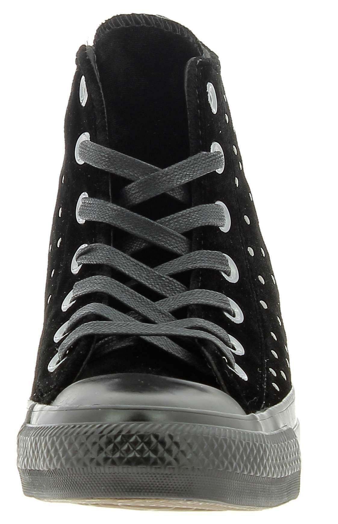 converse converse ctas hi scarpe donna velluto borchiata nera