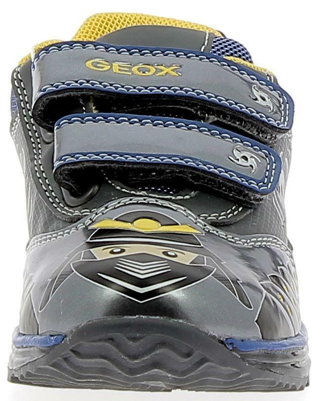 geox geox b kiwi b scarpe sportive bambino grigie con luci