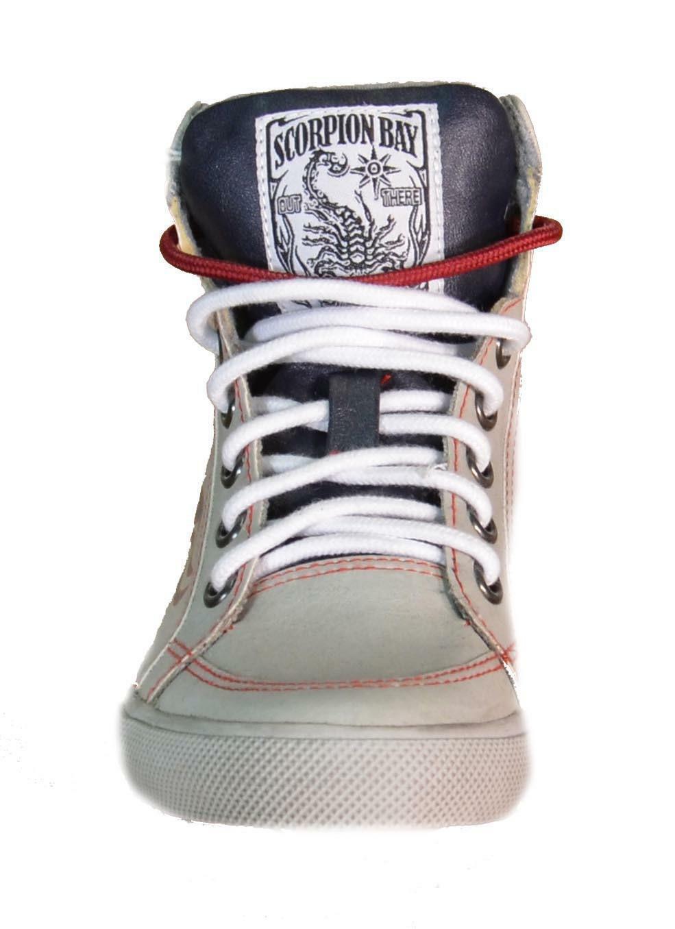 scorpion bay scarpe sportive bambino grigie pelle 511sb3