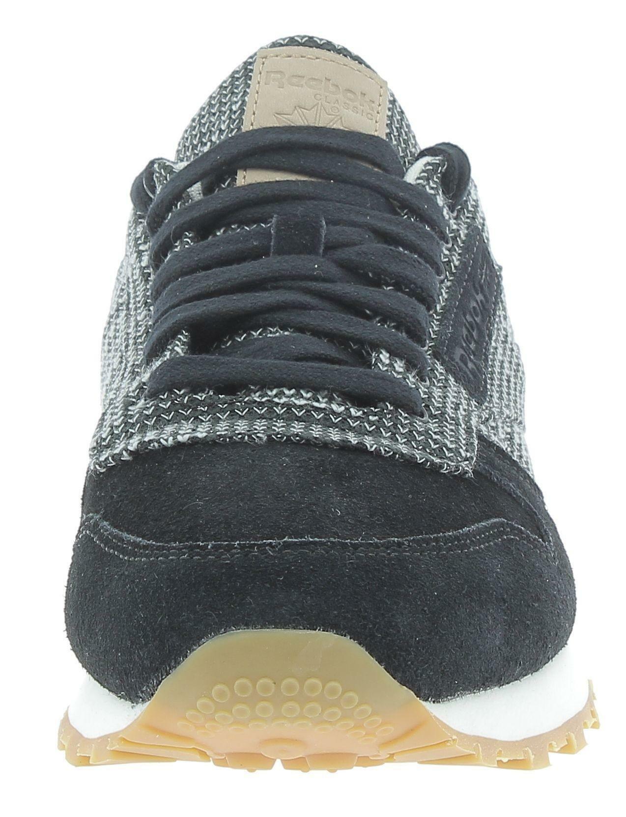 reebok reebok classic lthr ebk scarpe sportive uomo nere