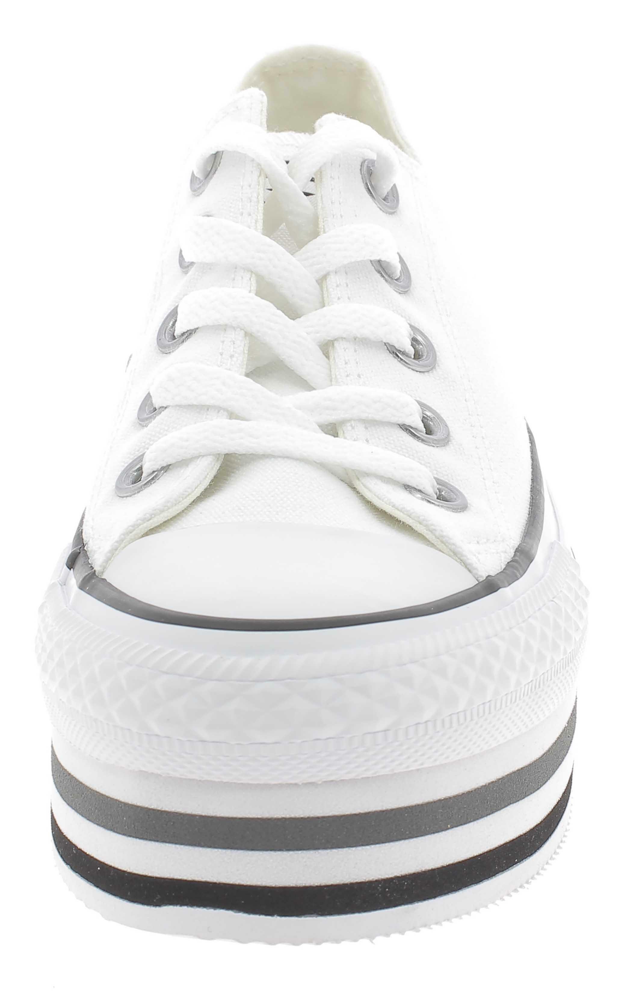scarpe converse donna platform bianche in pelle